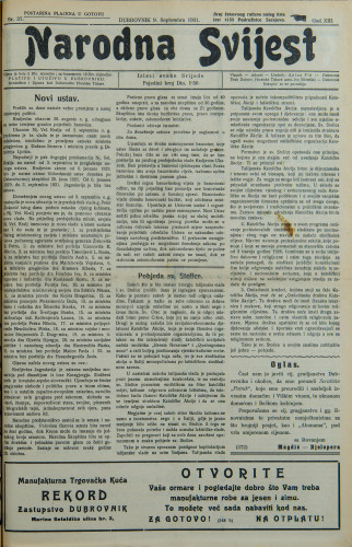 Narodna svijest, 1931/37