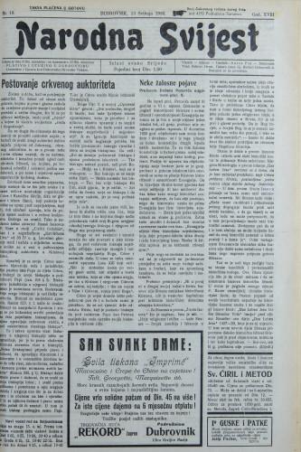 Narodna svijest, 1936/19