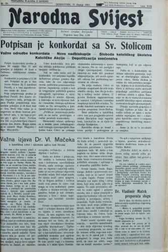 Narodna svijest, 1935/30