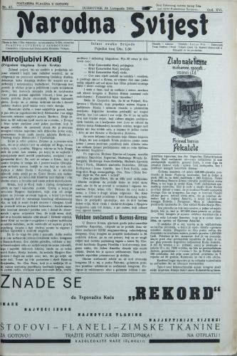 Narodna svijest, 1934/43