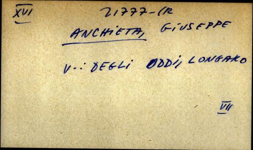 Anchieta, Giuseppe - uputnica