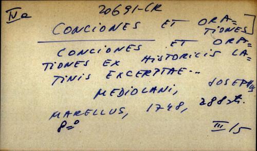 Conciones et orationes ex historicis latinis excerptae...