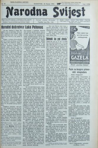 Narodna svijest, 1936/29