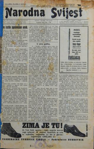 Narodna svijest, 1930/1