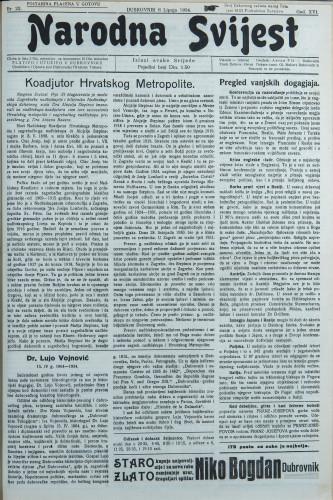 Narodna svijest, 1934/23