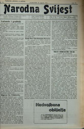 Narodna svijest, 1924/36