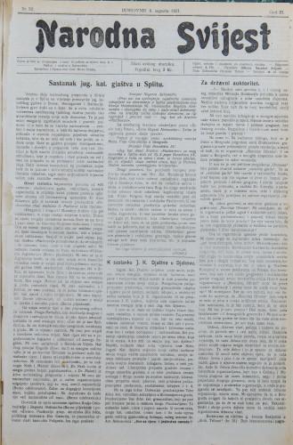 Narodna svijest, 1921/32