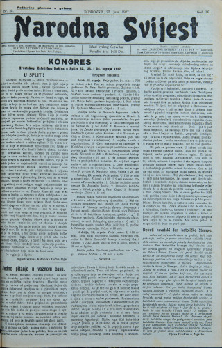 Narodna svijest, 1927/25