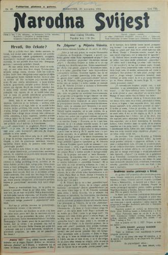 Narodna svijest, 1926/48