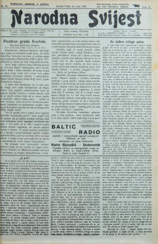Narodna svijest, 1928/30
