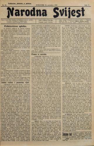 Narodna svijest, 1923/48