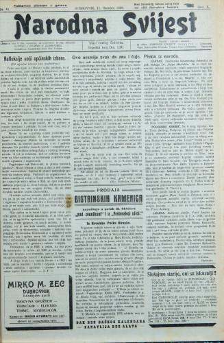 Narodna svijest, 1928/41