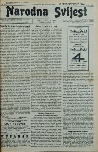 Narodna svijest, 1931/46