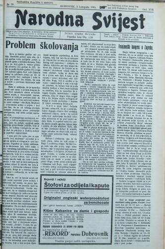 Narodna svijest, 1935/39