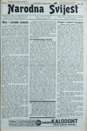 Narodna svijest, 1934/30