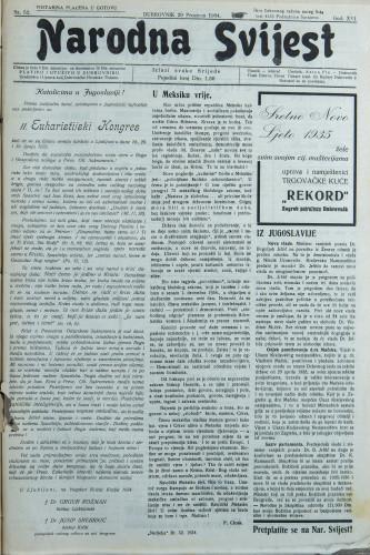 Narodna svijest, 1934/52