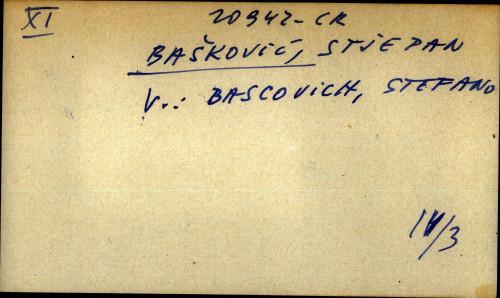 Bašković, Stjepan - uputnica