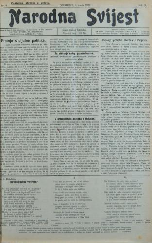 Narodna svijest, 1927/9