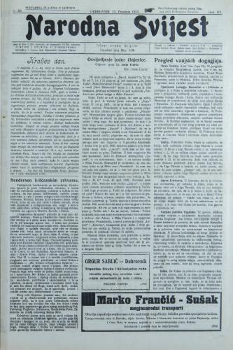 Narodna svijest, 1933/50