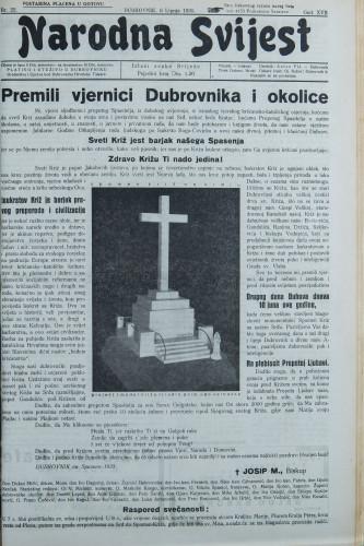 Narodna svijest, 1935/22
