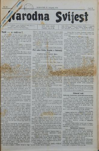Narodna svijest, 1920/44