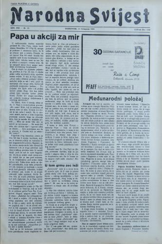 Narodna svijest, 1939/41