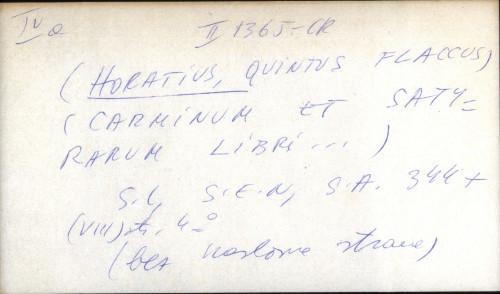 Carminum et satyrarum libri ...