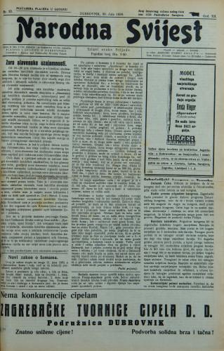 Narodna svijest, 1930/30