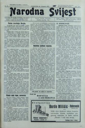 Narodna svijest, 1932/43
