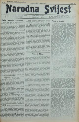 Narodna svijest, 1927/22