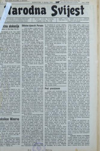 Narodna svijest, 1936/1