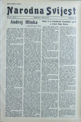Narodna svijest, 1938/34
