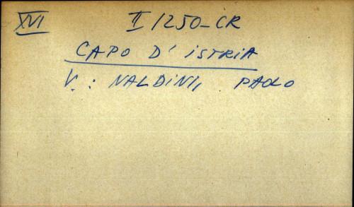 Capo d' istria - uputnica