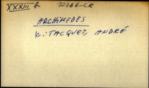Archimedes - uputnica