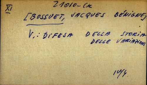 Bossuet, Jacques Benigne - uputnica