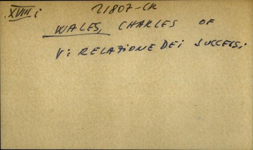 Wales, Charles of - opća uputnica