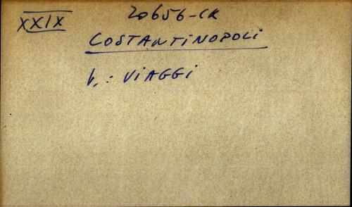 Costantinopoli - uputnica