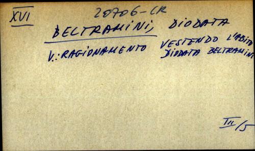 Beltramini, Diodata - uputnica