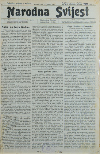 Narodna svijest, 1928/1