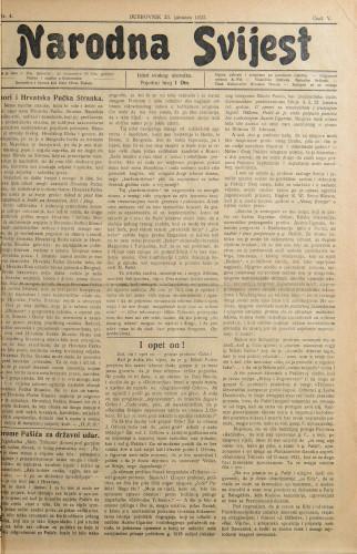 Narodna svijest, 1923/4
