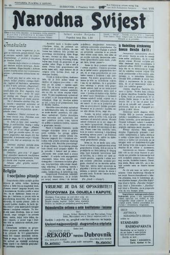 Narodna svijest, 1935/48