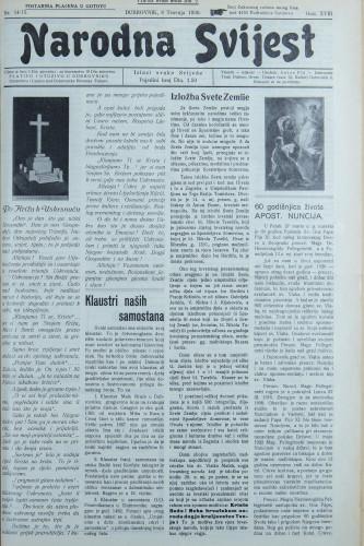 Narodna svijest, 1936/14, 15