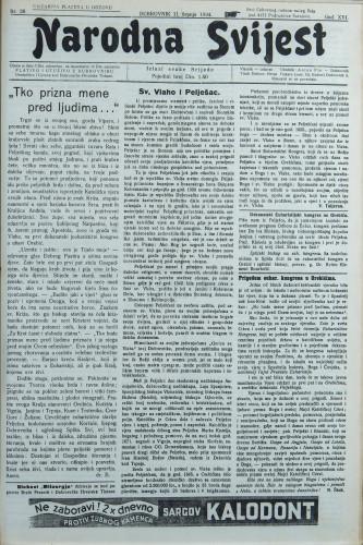 Narodna svijest, 1934/28