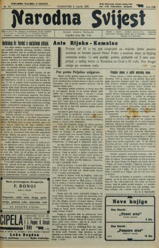 Narodna svijest, 1931/15