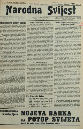 Narodna svijest, 1931/3