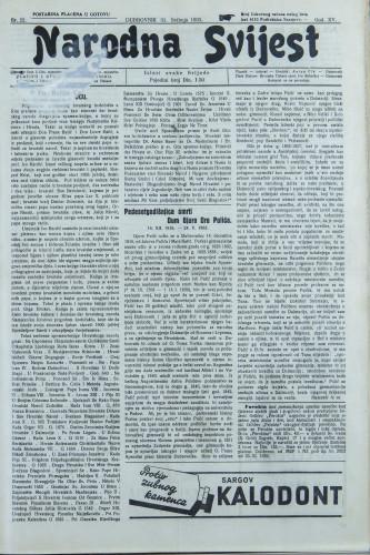 Narodna svijest, 1933/22