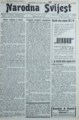 Narodna svijest, 1934/9