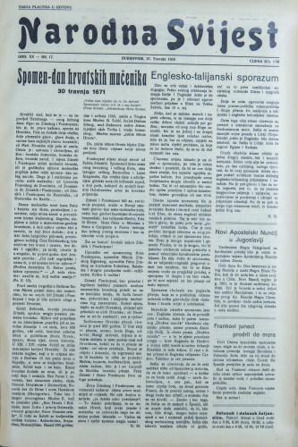 Narodna svijest, 1938/17