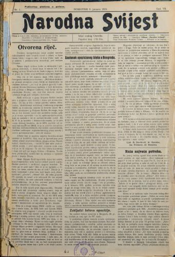 Narodna svijest, 1925/1
