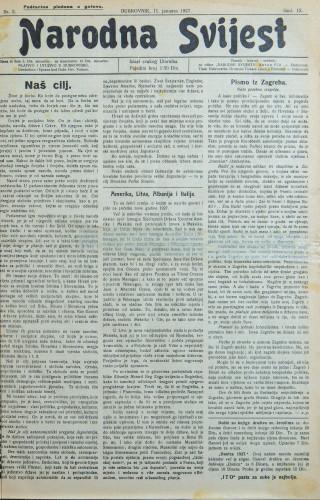 Narodna svijest, 1927/2